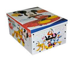 grande boite rangement coffre à jouets enfant disney mickey 1141