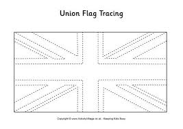 Union Jack Flag Coloring Page