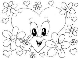 Coloring Pages Printable Adorable Heart Pictures That You Can Color And Print Free Sheets Amazing