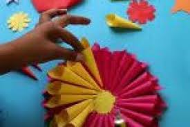 Plastic Spoon Flower Crafts Beautiful Diy Paper With Little Cone For Kids Video Dailymotion
