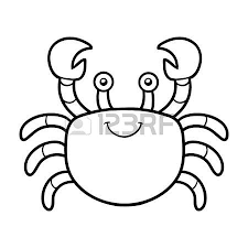 Coloring Book For Children Crab Stock Vector