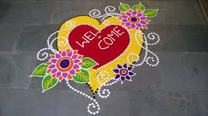 Freehand Rangoli Design New Year Special