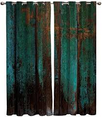 bszhct kinder gardinen schlafzimmer vorhang dunkelgrüne vintage holzmaserung gardine ösenvorhang polyester verdunkelung thermo vorhang blickdicht