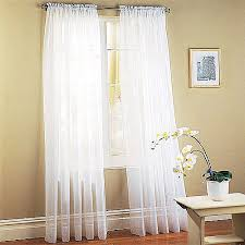 Sheer Cotton Voile Curtains by Mainstays Marjorie Sheer Voile Curtain Panels Set Of 2 Walmart Com