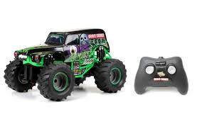 New Bright Monster Jam 1:15 Scale Remote Control Vehicle - Grave ... Toys Monster Trucks New Bright Jam 115 Scale Remote Control Vehicle Grave Hot Wheels Demolition Doubles 2pack Styles May Vary Toysrus Big Truck The Animal Camion Monstruo Juguete Toy Review Youtube Childhoodreamer Cars For Girls Rc Coolest 14 Ever Complete With Killer V8 Amazoncom Velocity Jeep Wrangler Fisherprice Nickelodeon Blaze The Machines