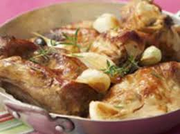 lapin cuisiné lapin rôti à la moutarde et au romarin facile recette sur