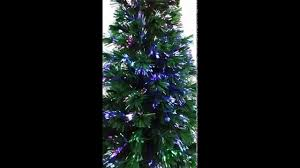 7ft Fibre Optic Christmas Tree by Large Fibre Optic Tree Day Youtube