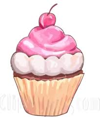 Frosted Cupcake Free Clip Art