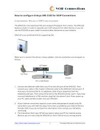 Download Free Pdf For Linksys SPA2102 Telephone Adapters Other Manual