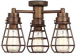 bendlin industrial oil rubbed bronze ceiling fan light kit