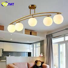 design deckenleuchte 4 glaskugeln weiß esszimmer beleuchtung