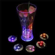 oobest led light bulb bottle cup mat led coaster color