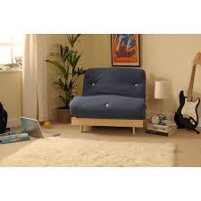 Small Single 2ft6 Futon Wooden Sofa Bed With Deep Filled Mattress