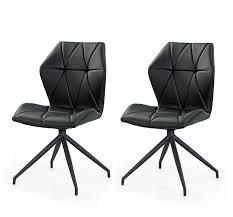 stühle esszimmerstühle 2er set schwarz drehbar