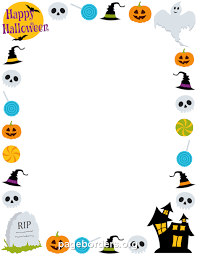 Free Halloween Invitation Templates Microsoft by Printable Happy Halloween Border Use The Border In Microsoft Word