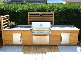 idee cuisine ext駻ieure meuble cuisine exterieure bois great with cuisine extrieure inox