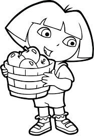 Dora Coloring Games Online To Play Apple Fruits Page Colouring Pages Free Book Download Full