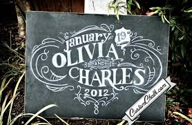 Shabby Chic Vintage Chalkboard Wedding Sign Ideas