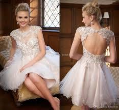 2015 cute white short prom dresses cheap high neck applique tulle