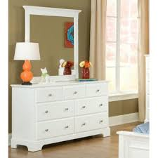 homelegance morelle 7 drawer dresser w mirror in white beyond