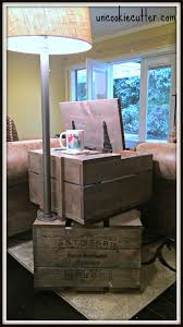 Vintage End Table With Lamp Attached by End Table Stacked Crates With Storage And Lamp Uncookie Cutter