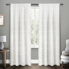 Light Pink Ruffle Blackout Curtains by White Ruffle Blackout Curtains Wayfair