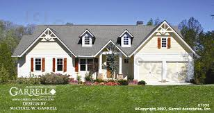 Craftsman Style House Plans Ranch by Garrell Associates Inc Glenville Ii 07098 Front Elevation