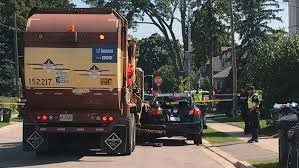 100 Garbage Truck Accident Man Killed After Being Crushed Between Garbage Truck And SUV