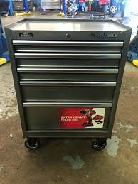 100 Husky Tool Box Truck Storage Cabinet Roller Main Kw Drawer Slide Wood Top