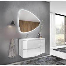 badezimmer badmöbel 100 cm atene aus glänzend weiß