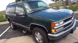 100 1998 Chevy Truck For Sale Chevrolet 2 Door Tahoe 4x4 One Owner CA For Sale YouTube