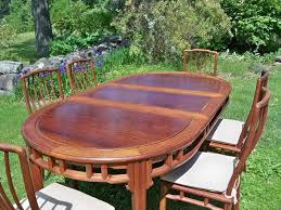 Oval Table With A 20 Removable Leaf To Have Round 30 H X 44 Width In Center Six Chairs Pads