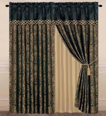 Amazon Curtains Living Room by Amazon Com Chezmoi Collection Lisbon 4 Piece Jacquard Floral