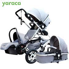 siege de transport bébé poussette 3 en 1 avec siège de voiture haute landscope pliant