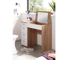 coiffeuse bureau 4 tiroirs redlips chêne et blanc commodes