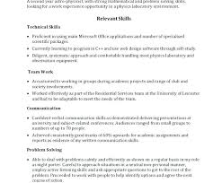 Great Skills For Resume Template Listening A Construction