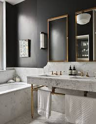 Black Bathroom - Masculine Bathroom, Marble Brass And Off-black ... Grey White And Black Small Bathrooms Architectural Design Tub Colors Tile Home Pictures Wall Lowes Blue 32 Good Ideas And Pictures Of Modern Bathroom Tiles Texture Bathroom Designs Ideas For Minimalist Marble One Get All Floor Creative Decoration 20 Exquisite That Unleash The Beauty Interior Pretty Countertop 36 Extraordinary Will Inspire Some Effective Ewdinteriors 47 Flooring