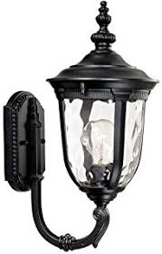 bellagio 16 1 2 high black up arm led outdoor light