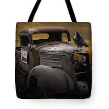 100 Vintage Pickup Trucks For Sale Raven Hood Ornament On Old Chevy Truck Tote Bag For