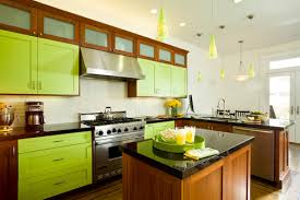 Sage Green Kitchen Cabinets With White Appliances by Beautifully Colorful Painted Kitchen Cabinets