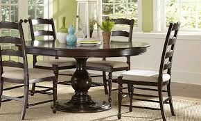 Dining Tables Appealing Brown Round Rustic Wooden Room Table For 6 Stained Desigm