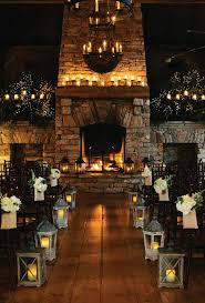 Rustic Candles Wedding Ceremony Decor Ideas