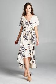 short sleeve ivory floral bohemian wrap maxi dress maxi dresses