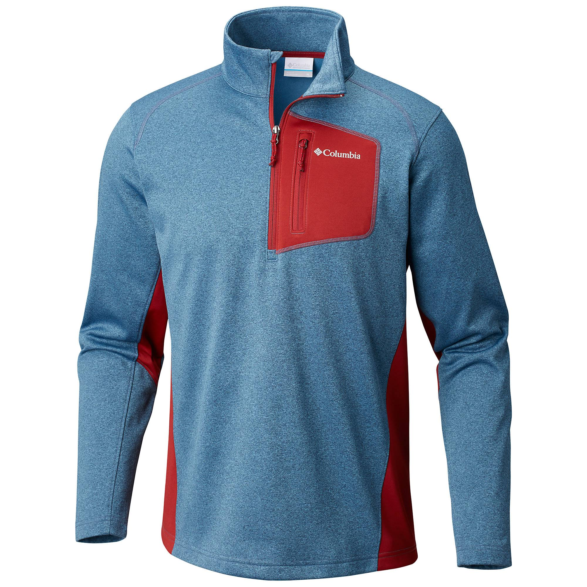 Columbia Jackson Creek Half Zip - S - Dark Mtn Heather/Red Element