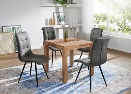 esstisch mumbai massivholz akazie 80 cm esszimmer tisch holztisch design küchentisch landhaus stil dunkel braun