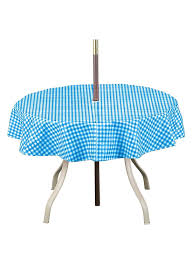 Patio Tablecloth With Umbrella Hole by Amazon Com Checkered Umbrella Tablecloth Round 70