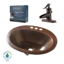 Home Depot Bathroom Sink Drain by Sinkology Pfister All In One Seville Copper Drop In Bathroom Sink