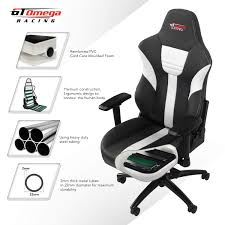 GT OMEGA Master XL Racing Gaming Chair With Lumbar Support - Heavy Duty  Ergonomic Office Desk Chair With 4D Adjustable Armrest & Recliner - PVC ... Managerial Office Chair Conference Room Desk Task Computer Mesh Home Warmrest Ergonomic Lumbar Support Swivel Adjustable Tilt Mid Back Fully Meshed Ergo Black Essentials By Ess202 Big And Tall Leather Executive Star Products Progrid The Best Gaming Chairs In 2019 Gamesradar Cozy Heavy Duty Chairs Jherievans Mainstays Vinyl Multiple Colors Secretlab Neuechair Review An Attractive Comfortable Contemporary Midback Plush Velvet