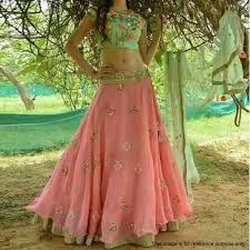 Buy Pink Embroidered Lehenga Choli For Womens Online India Best