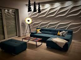 wohnzimmer wandgestaltung 3d wandpaneele wandverkleidung